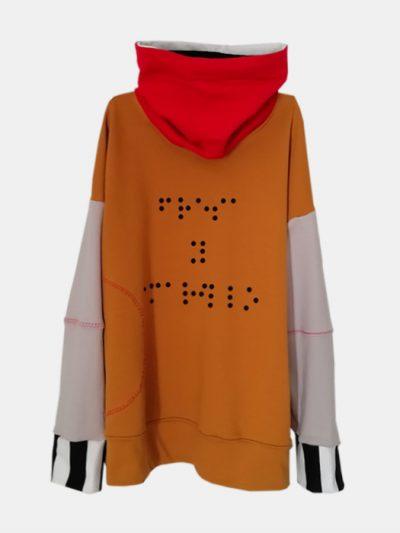 sudadera-nio-infantil-braille-amarillo-y-rojo-cuello-alto.
