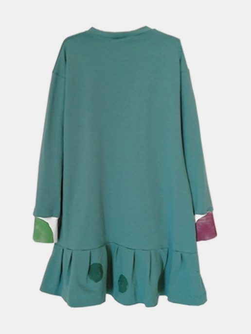vestido-nia-infantil-interrogacin-color-verde-trasera.
