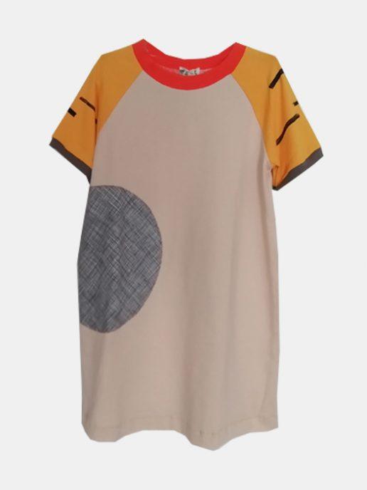 vestido-camiseta-nio-infantil-beige-y-tigre-