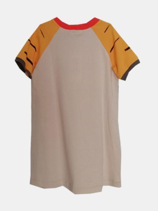 vestido-camiseta-nio-infantil-beige-y-tigre-trasera