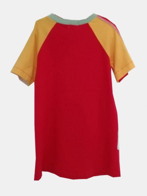 vestido-camiseta-nio-infantil-rojo-y-lpices-trasera