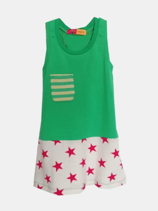 vestido-nia-infantil-verde-y-estrellas-