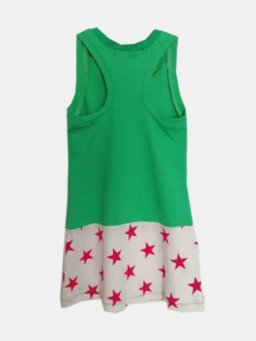 vestido-nia-infantil-verde-y-estrellas-trasera