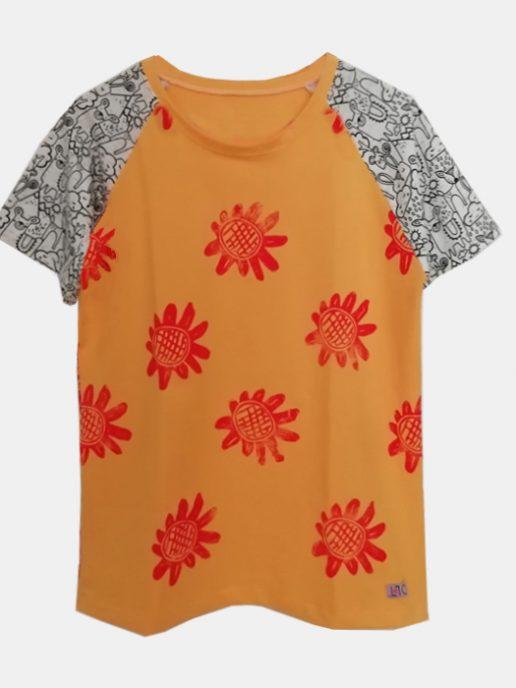 camiseta-adulta-estampacin-girasoles-amarilla