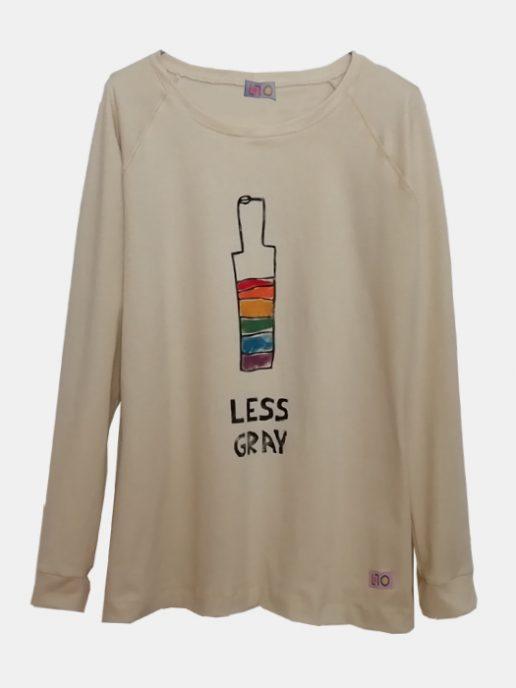 camiseta-adulta-estampada-botella-arcoiris-beige