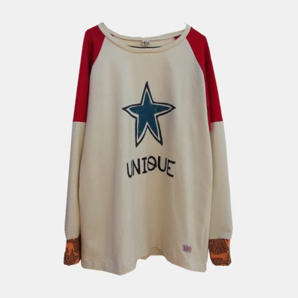 camiseta-adulta-estampada-estrella-azul-unique
