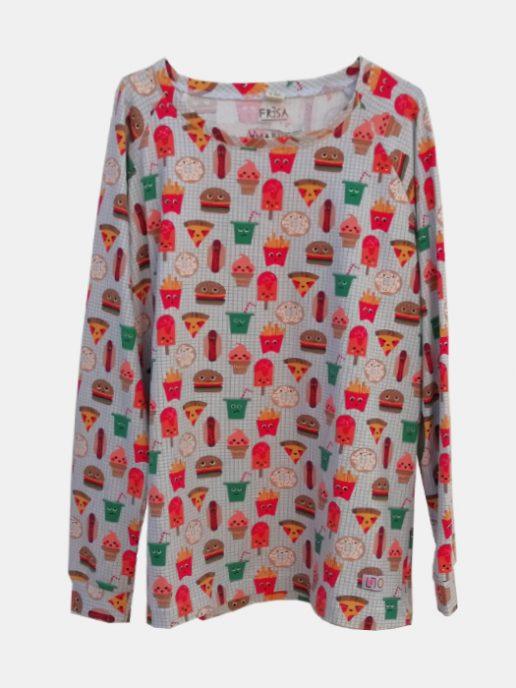 camiseta-adulta-estampada-hamburguesas