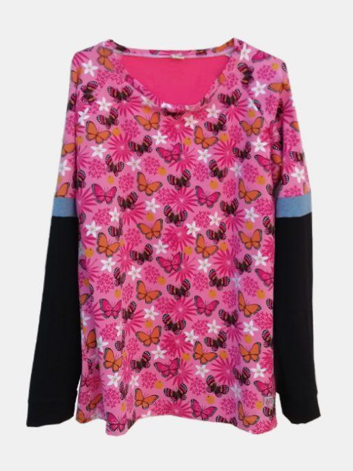 camiseta-adulta-estampada-mariposas