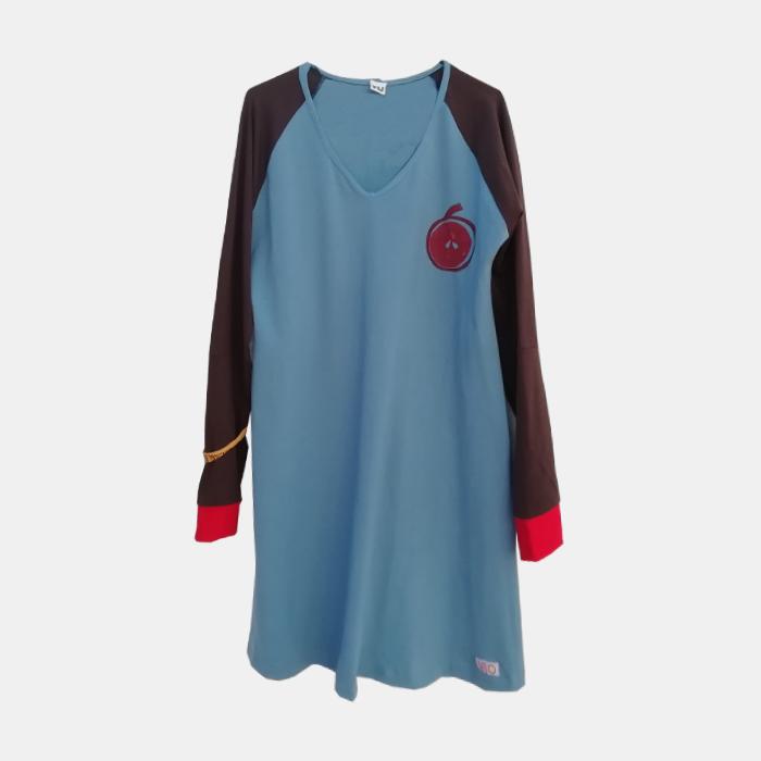 vestido-adulta-azul-estampacin-manzana-1