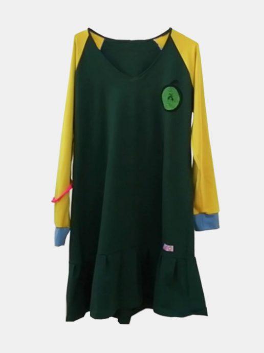 vestido-adulta-verde-estampacin-manzana.