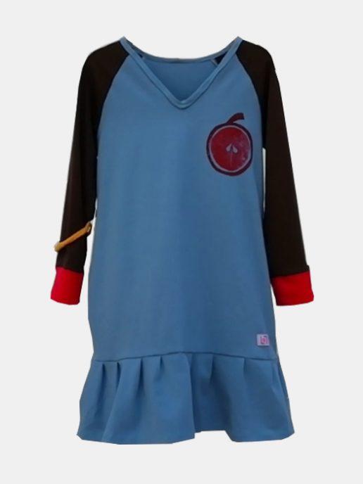 vestido-nia-infantil-azul-estampacin-manzana.