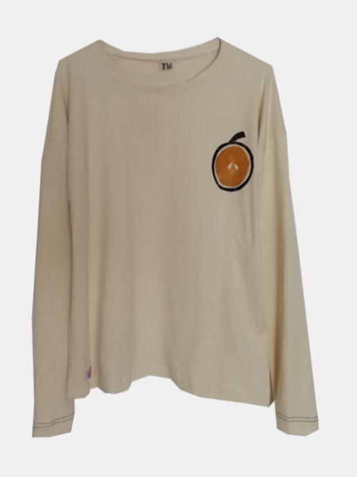 camiseta-adulta-estampada-manzana-amarilla