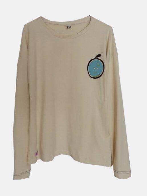 camiseta-adulta-estampada-manzana-azul.