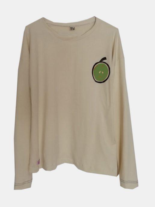 camiseta-adulta-estampada-manzana-verde